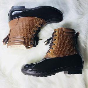 NWOT MICHAEL KORS womens caramel Easton boots